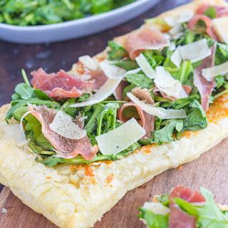 Arugula and Prosciutto Puff Pastry Pizza.