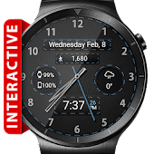 Black Leather HD Watch Face
