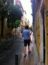 Photo: ....When we finally arrived to Madrid, exploring our new neighborhood, fixing up our apartment - all in 24-hour day's work.