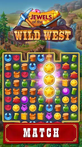Jewels of the Wild West: Match gems & restore town screenshots 1