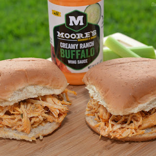 Slow Cooker Buffalo Ranch Sandwiches