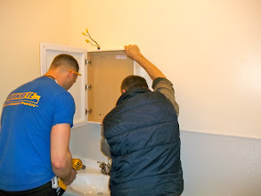 Photo: GLBT Center Bathroom remodel - Jeff Pott on L and Lawrence McPhearson on right!