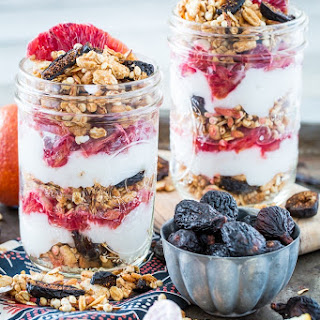 Vanilla Almond Fig Granola Parfait with Blood Oranges