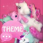 Tema Rosa Pony GO SMS PRO icon