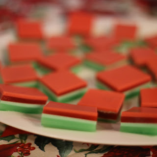 Layered Finger Jello for Holidays
