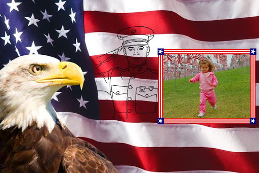 Flag Day Photo Frames U.S
