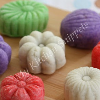 Snow Skin Mooncake with Mung Bean Filling