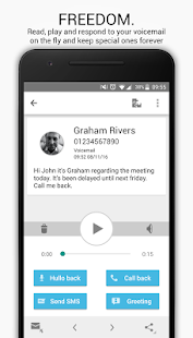 HulloMail Free Smart Voicemail Screenshot