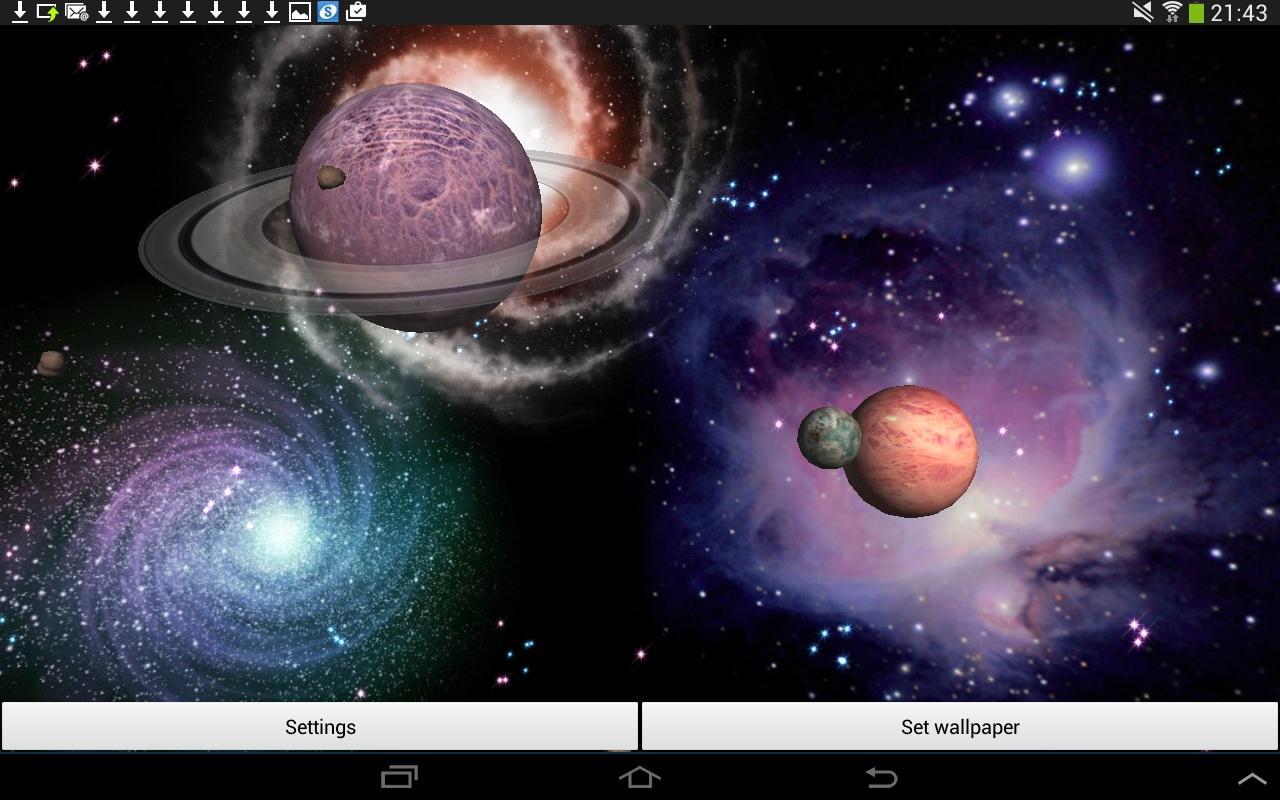 3D Space Live Wallpaper Screenshot