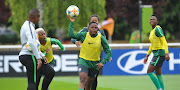 Banyana Banyana go through their paces during a training session in Le Havre, Paris, in France.