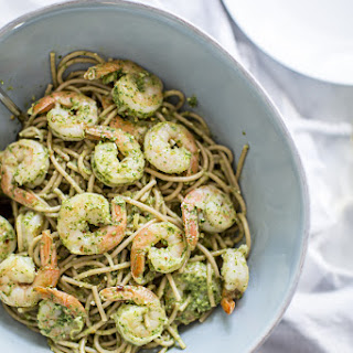 Easy Shrimp Pasta with Arugula Pesto