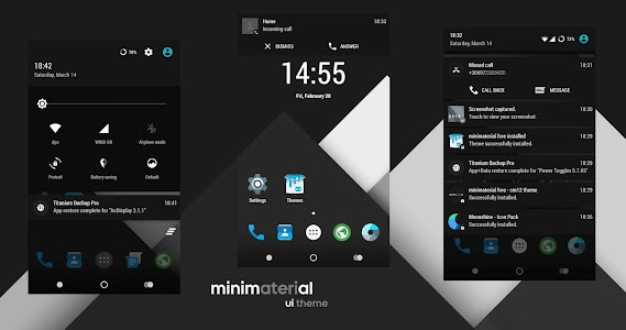 minimaterial - cm12 theme v3.5