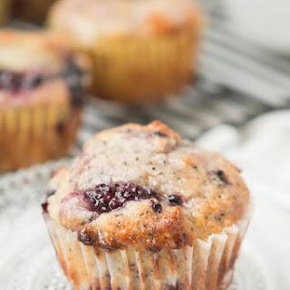 Orange Glazed Blackberry Poppy Seed Muffins