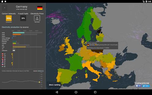 Electricity Map - náhled