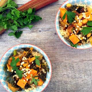 Kale, Sweet Potato and Rhubarb Tajine [vegan].