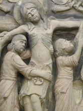 Photo: Studio work: 'Deposition of Christ' (detail)