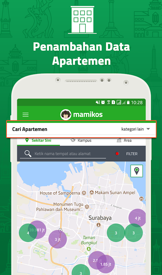 MAMIKOST, kost/room Finder App- screenshot