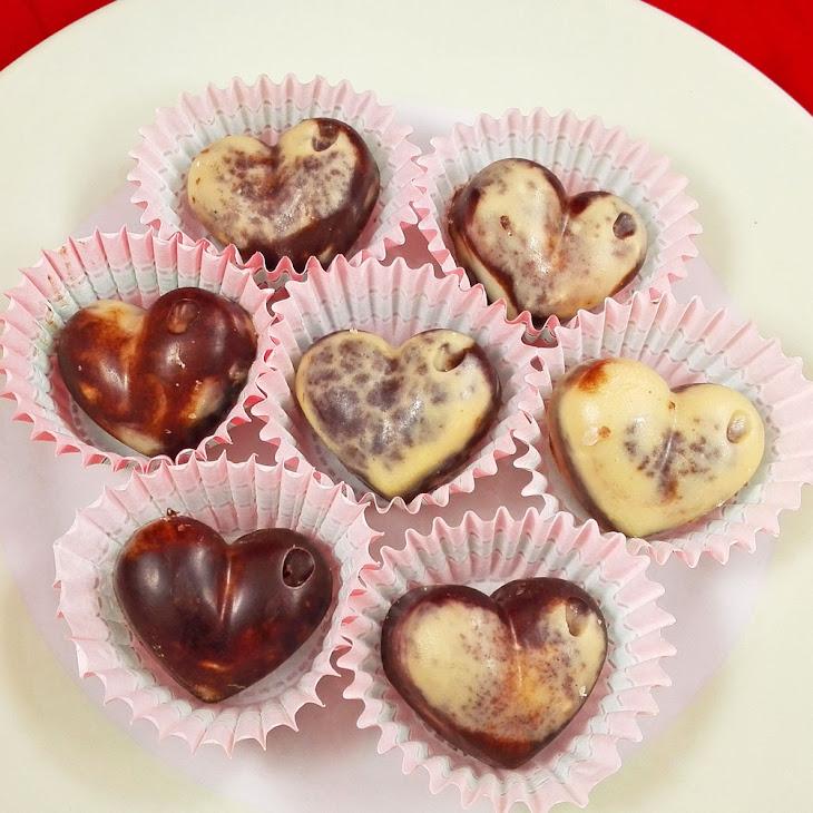 Raw Vegan Marble Chocolates For Valentine's Day