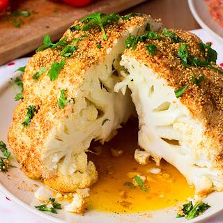 Spicy Whole-Roasted Cauliflower