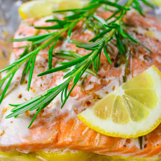Baked Rosemary Salmon in Foil
