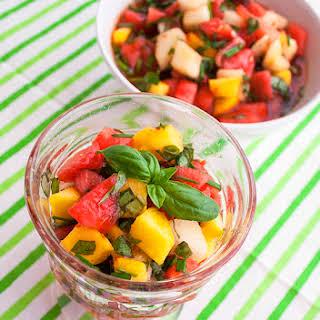 Watermelon-Peach Salsa.
