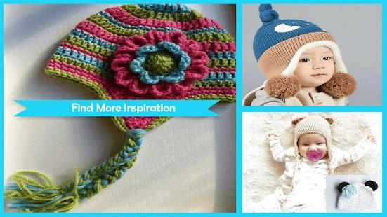 Cute Crochet Ear Flap Baby Patterns - náhled