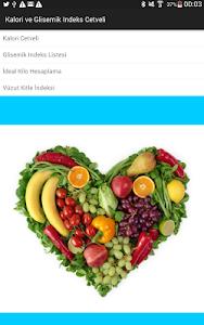 Kalori-Glisemik İndeks Cetveli screenshot 6