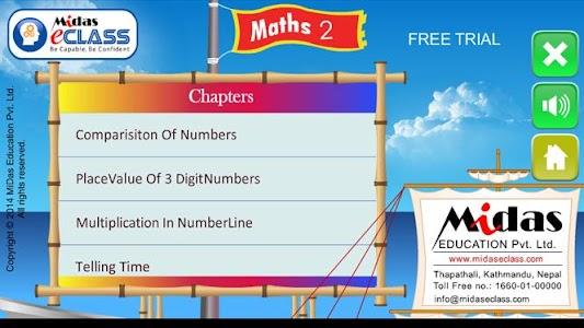 MiDas eCLASS Maths 2 Demo screenshot 1