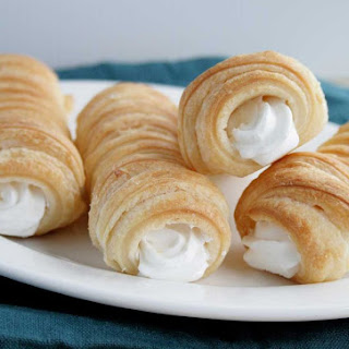 Puff Pastry Cream Horns Recipe