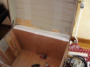 Photo: nouveau soufflet fait avec du drap de lin.