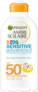 Garnier Ambre Solaire Kids Sensitive Sun Cream - SPF50+, 200ml