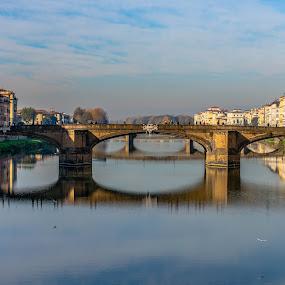The bridge, the waters and the sky..  by Hariharan Venkatakrishnan - City,  Street & Park  Vistas