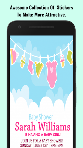 Baby Shower Invitation Maker screenshot 9