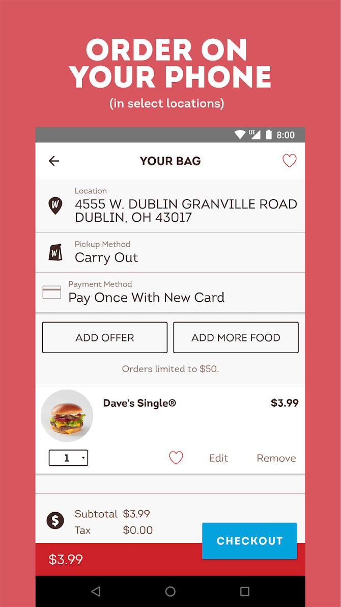 Wendy's – Food and Offers Android 4