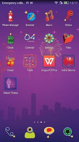 android Honor 4X Diwali Theme Screenshot 1