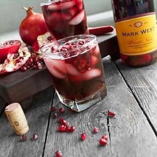 Pomegranate Pinot Fizz with Mark West Pinot Noir.
