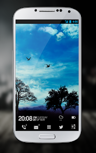 Blue Sky Pro Live Wallpaper Screenshot