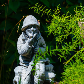 Fisherman by Michael Thorndike - Novices Only Objects & Still Life ( color, statue, photo, amateur, fisherman )