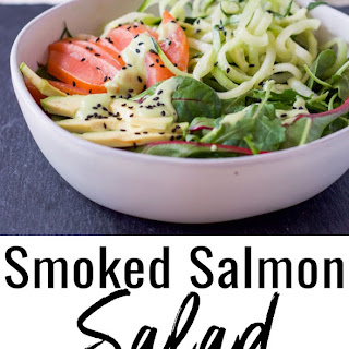 Smoked Salmon Salad (Gluten Free and Dairy Free).