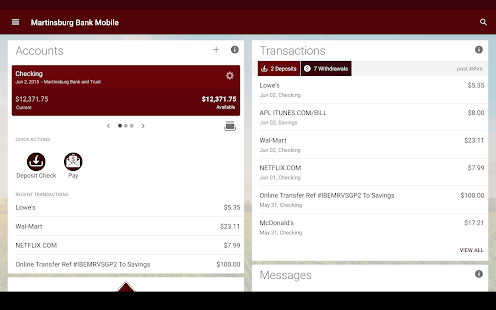 Martinsburg Bank Mobile screenshot