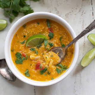 Slow Cooker Thai Chicken and Butternut Soup.