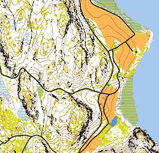 Photo: Salmi recreation area. LIDAR data from Karttapullautin (open areas, contours, cliffs) +  vector data of National Land Survey of Finland (maastotietokanta; roads, paths, buildings, cultivated areas, meadows, lakes)