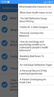 reflection essay examples android apps on google play  reflection essay examples screenshot thumbnail