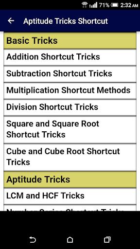 Aptitude Tricks Shortcut Guide - Become Expert 1.0 screenshots 1