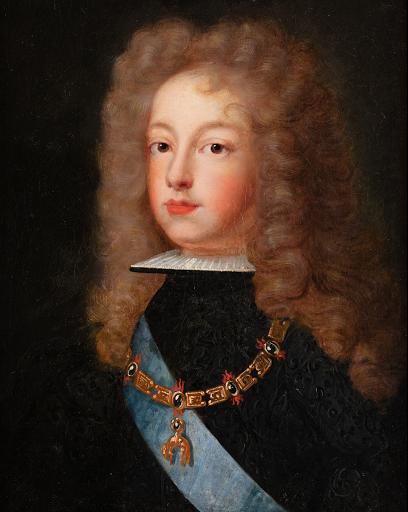 Ecole Francaise-Portrait de Philippe V d'Espagne