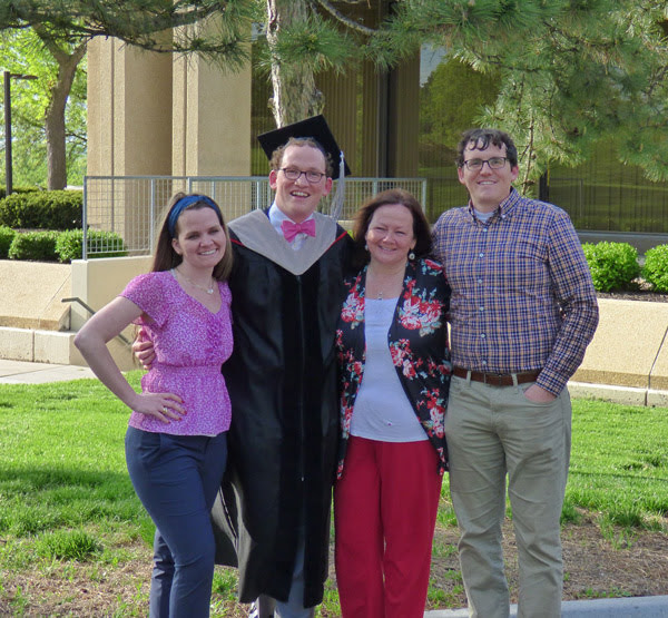 Ryan's Graduation - with sister Stephanie, mother Shelley and brother Michael