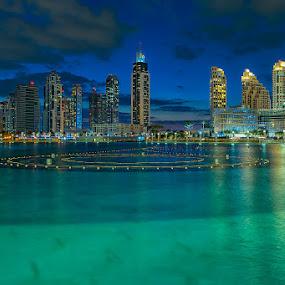 DUBAI FOUNTAIN by Hendrik Priyanto - City,  Street & Park  Skylines