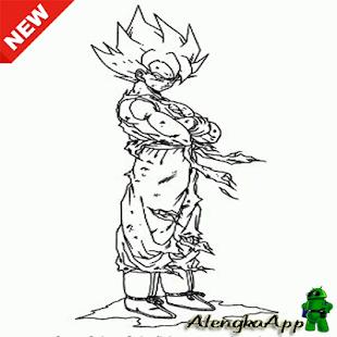 Super Saiyan Image Sketch - náhled
