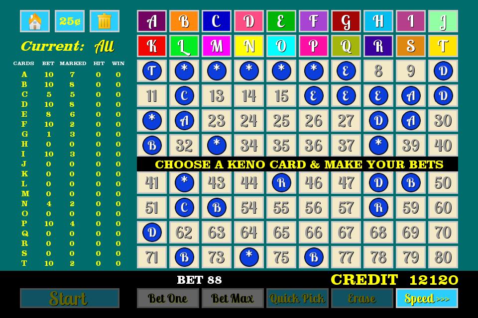 4 card keno payouts 3 spot