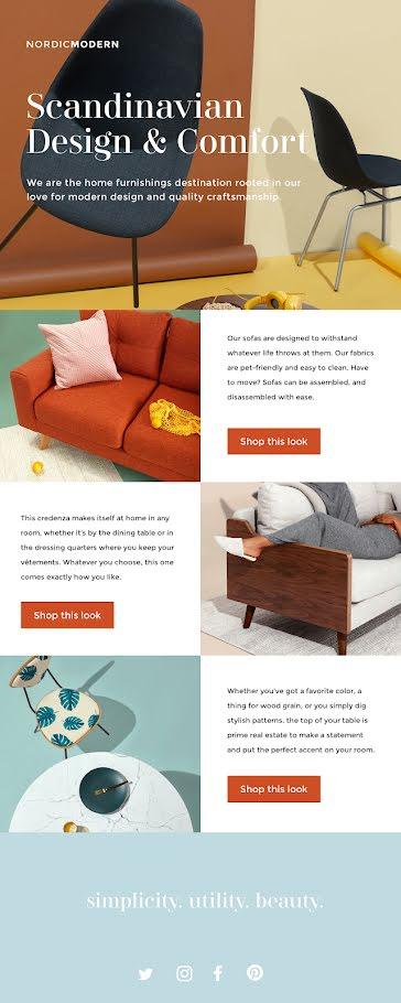 Scandinavian Design - Long Email Template